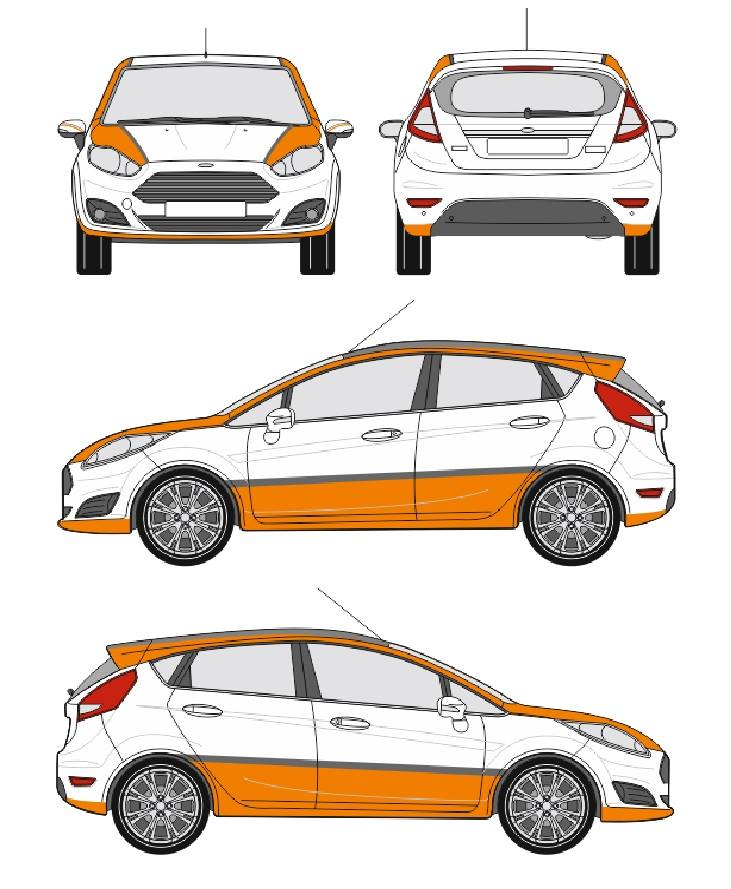 Fiesta R1 Sticker Layout